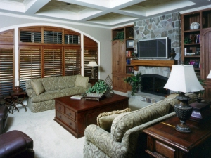 Living Room in custom home built by Martin Bros. Contracting, Inc.