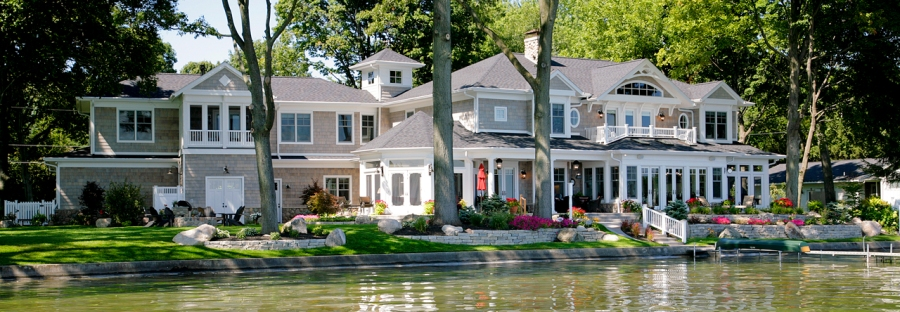 Custom built lake home by Martin Bros. Contracting, Inc., Goshen, IN