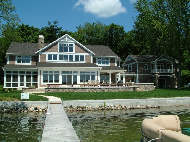 Lake Cottage Built by Martin Bros. Contracting, Inc., Goshen, IN