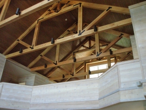 Truss System in Lake Cottage built by Martin Bros. Contracting, Inc., Goshen, IN