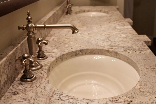 Kohler undermount sink in bath remodeled by Martin Bros. Contracting, Inc., Goshen, IN