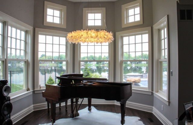 Piano room is addition by Martin Bros. Contracting, Inc.