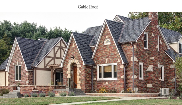 Gable roof example; exterior renovation by Martin Bros. Contracting, Inc., Goshen, IN