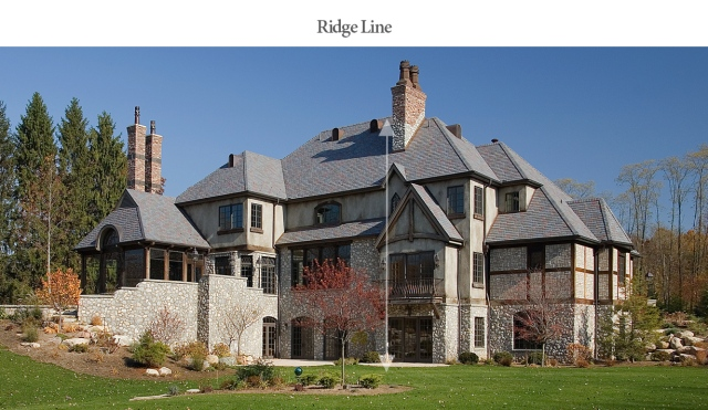 Ridge line example on estate built by Martin Bros. Contracting, Inc., Goshen, IN